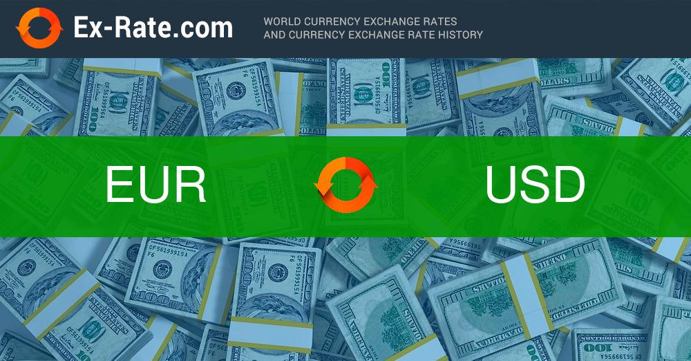 Euro to U.S dollar